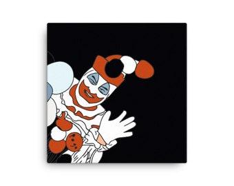 Pogo the Clown Painting, Serial Killer John Wayne Gacy, Horror Art True Crime Gift Decor