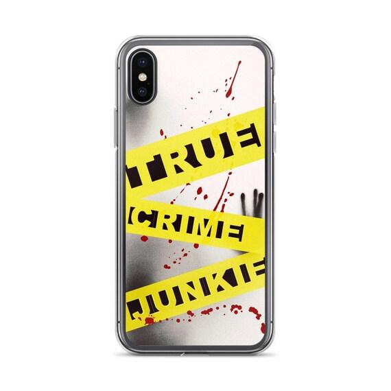 True Crime Junkie iPhone, Crime Scene Tape Phone Case, Criminal Justice, Detective Gifts