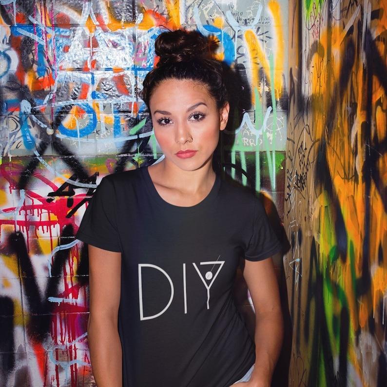 DIY Do It Yourself Feminist Girl Power tshirt Creatives Charcoal-Black Tribl
