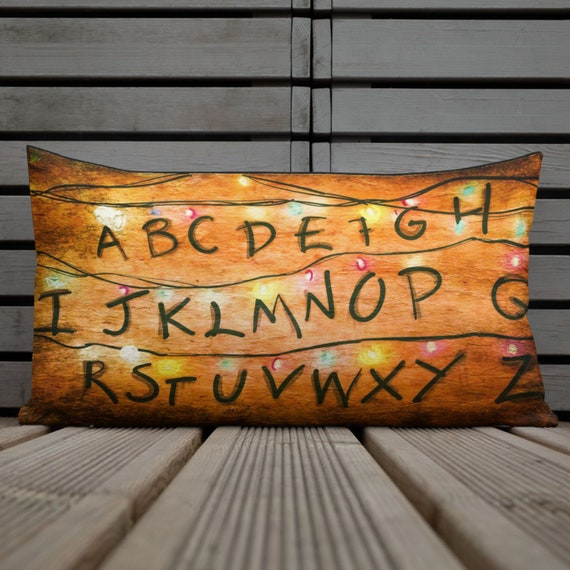 Stranger Lights Lumbar Rectangular Pillow, FTG Home Things, Decorative Fan Cushion, Netflix, Cool Unique Decor Sofa Couch Bedroom