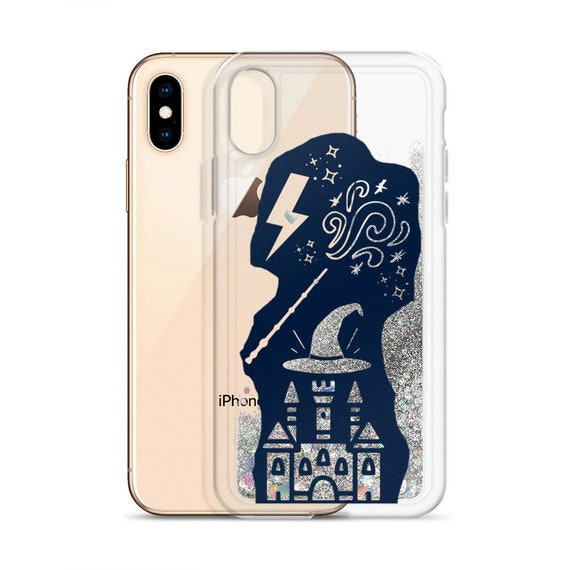 Wizard Glitter iPhone Case, Magic Sparkle Potterverse, Cool Cover for XS XR