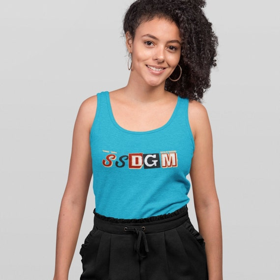 SSDGM Ladies Tank Top, Stay Sexy and Don't Get Murdered, My Favorite Murder tanktop, Plus Sizes to 2XL, Anvil Cotton Shirt for Women Muder