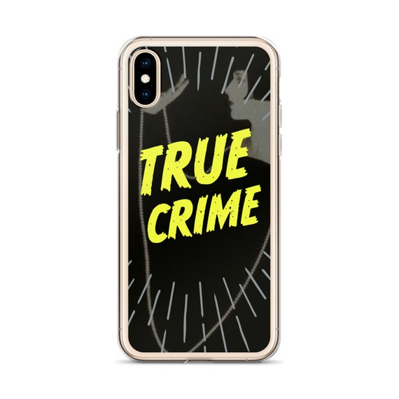 Crime Aesthetic iPhone XS Max XR Case, Film Noir Creepy, Retro Cool Phone Covers, Dark Horror Gift for Friends Podcast Fans
