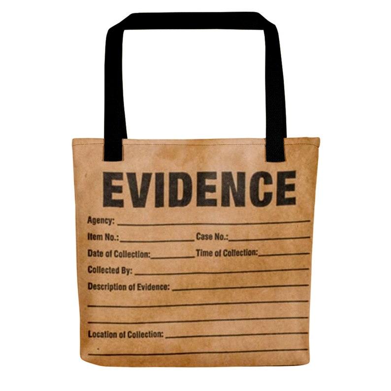 Evidence Tote bag True Crime Gift for Crime Junkies 15 Black