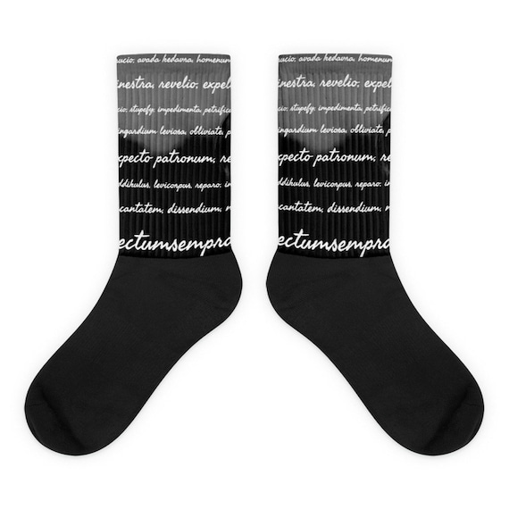 Dark Arts Socks, Wizarding Socks, Cool Novelty Socks for Potter Heads, featuring Charms, Spells, and Enchantments