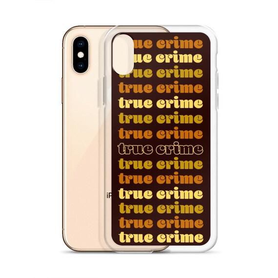 Retro Crime iPhone XR XS Case, Groovy Vibe Murderino Phone, 7 8 Plus
