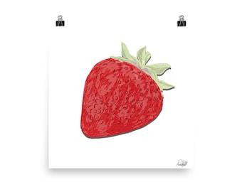 Strawberry - Enhanced Matte Archival Poster (10x10, 12x12, 16x16, 18x18)
