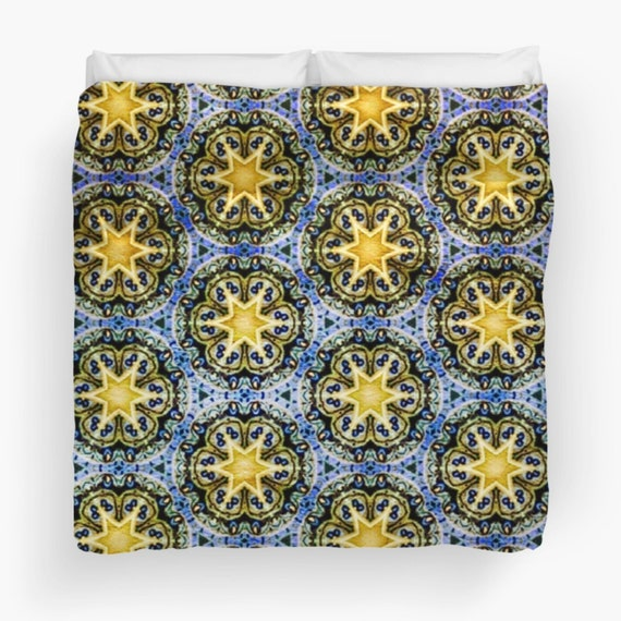 Magic Star Duvet Cover, Available in Twin, Queen, King Sizes, Soft Cotton Underside, Machine Washable from Frenchtoastygood