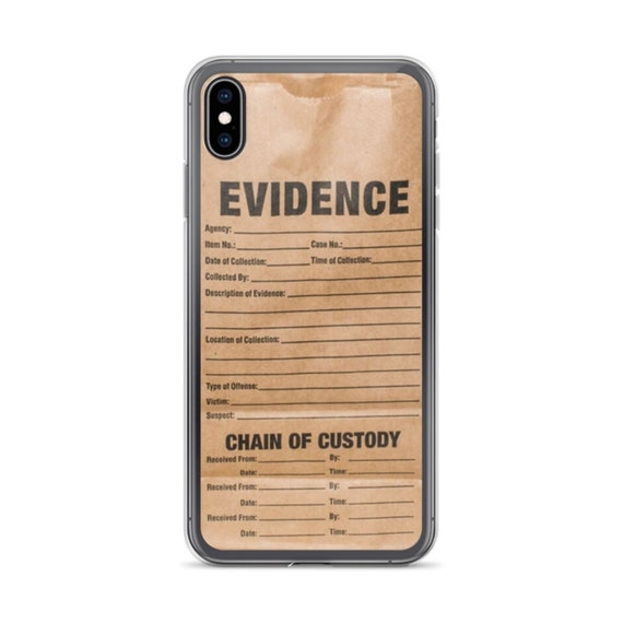 Evidence True Crime Phone Case, Chain of Custody iPhone 11 or Galaxy for Forensic Detectives and Criminal Justice Fans