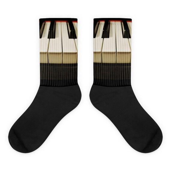 Piano Keyboard Socks, Gift idea for Musician, Pianist, Music Aficionado