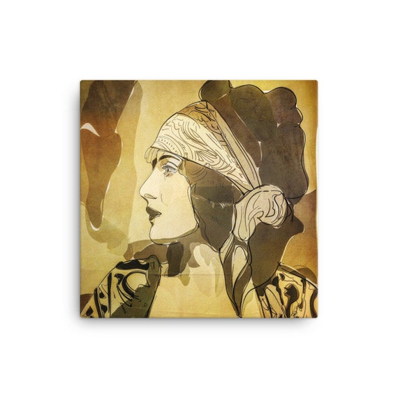 La bohème, Original Art Piece, Canvas Wall Art in Gold, Copper, Dramatic Room Interior, Boho Aesthetic