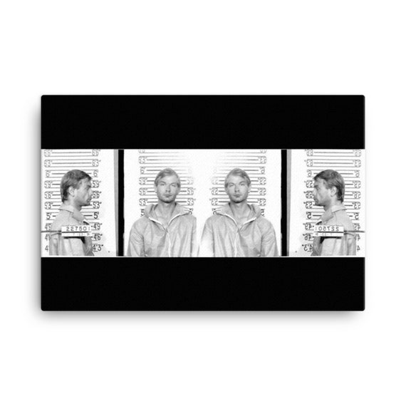 Jeffrey Dahmer Art, Large Canvas Print, Serial Killer Murderabilia, Photography, Weird Horror Theme Artwork