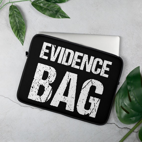 Evidence Bag Laptop Sleeve, True Crime Junkie Gifts, 13 or 15 Computer, Funny Macbook Cover