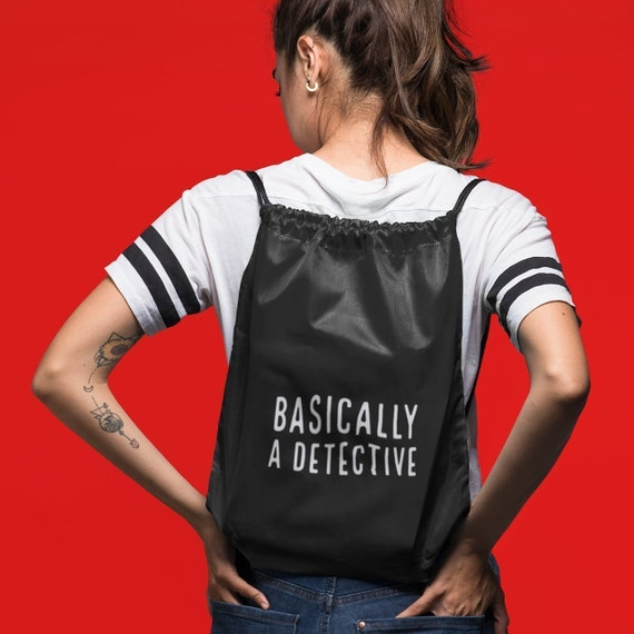 Basically a Detective Backpack, True Crime Tote Bag for Murderinos, SSDGM