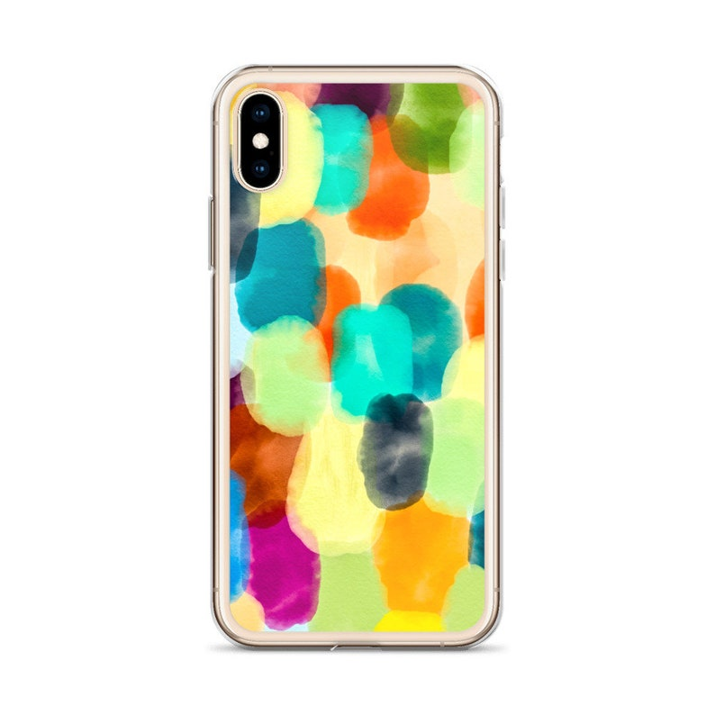 Unique Watercolor Phone Case Colorful Abstract Artwork Fingerprints Of Paint Rainbow Of Colors Iphone Ios Samsung Galaxy Android Covers