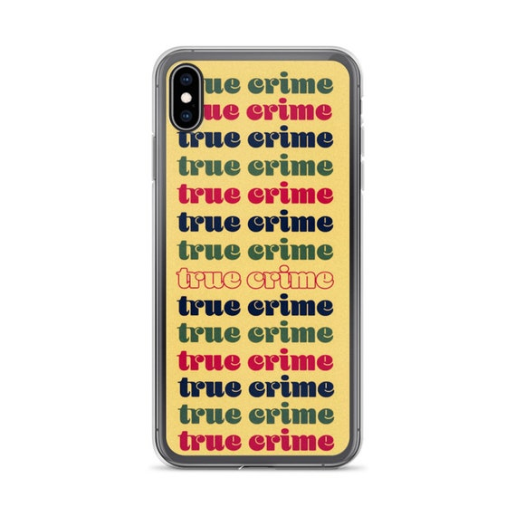 Retro Aesthetic iPhone 11 Cases, Colorful Funky Font 1970s Groovy Style, True Crime Lettering Cool Unique Phone Cover