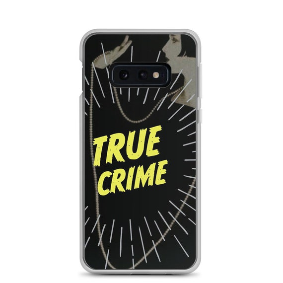 True Crime Aesthetic Phone Case with Retro Vintage Graphics Galaxy s8 s9 s10