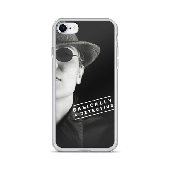 Basically a Detective iPhone Case, Cool Film Noir Crime Aesthetic, Covers for X XR XS Max, True Crime Podcast Lovers