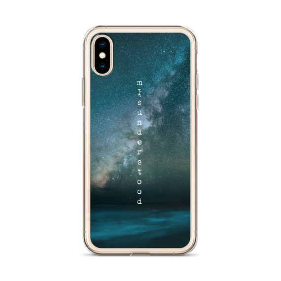 Misunderstood iPhone Case, Text Quote XR XS Max Cover, Goth Vibe, Moody Dark Sky with Stars, Unique Graphic Design from Frenchtoastygood