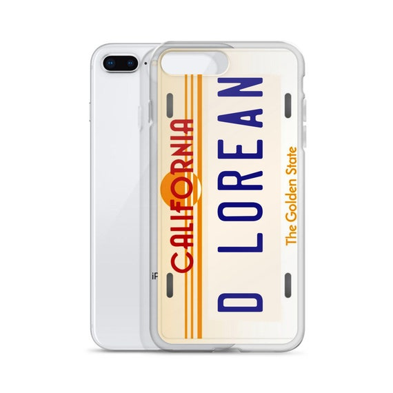 DeLorean iPhone 11 Case, Back to the Future Car License Plate Phone Cover, Samsung Galaxy, Retro Movie Gifts