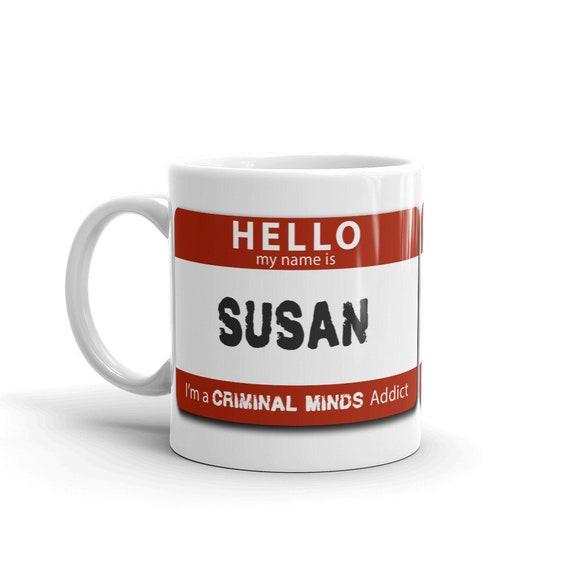 Personalized Criminal Minds Addict Mug, Unique Custom Gift for Your Favorite FBI BAU, Serial Killer Obsessed, Unsub Fan