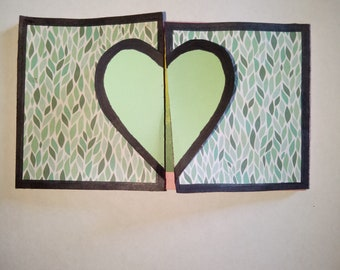 Heart accordion card / scrapbook /explosion box / interactive