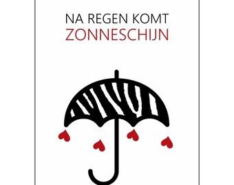 A set of 5 postcards-after rain comes sunshine
