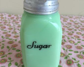 Beautiful Vintage Jadeite McKee Roman Arch Sugar Shaker