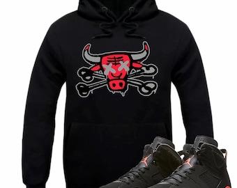 9042c35f7d35 Air Jordan 6 VI Infrared Sneaker Hoodie Sweatshirt Matching Retro BULLY  BONES hooded sweatshirt