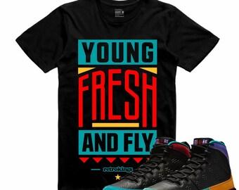 a9c84a64268c68 Air Jordan IX 9 Dream it Do it Flight Nostalgia YOUNG FLY Retro Sneaker T  Shirt Sneakerhead Tee