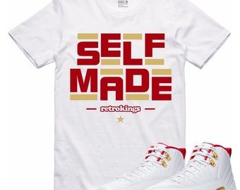 Never Prosper Tee Shirt Match Jordan 12 Fiba Shoes