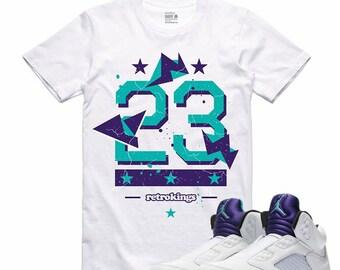 8360d5bf8aba Air Jordan 5 V Fresh Prince Grape 5 V Sneaker T Shirt Sneakerhead Tee