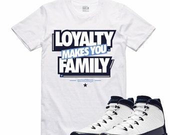 3f6e2ee3737c Air Jordan 9 IX Midnight Navy T Shirt Carolina Retro Sneaker Sneakerhead  Tee UNC