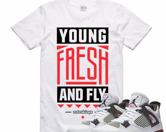 8fbe4ae88d2f Magma Air Jordan 4 Hot Lava T Shirt Flight Nostalgia Retro Sneaker YOUNG  FRESH FLY Sneakerhead Tee