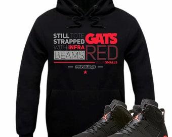 9be0adf24b07 Air Jordan 6 VI Infrared Sneaker Hoodie Sweatshirt Matching Retro RED BEAMS  hooded sweatshirt