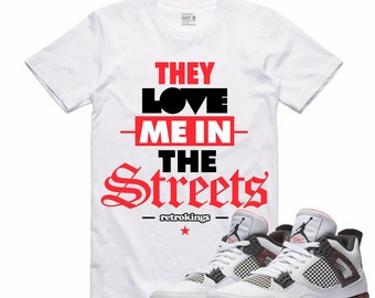 dc854e49018f Magma Air Jordan 4 Hot Lava T Shirt Flight Nostalgia Retro Sneaker STREET  LOVE Sneakerhead Tee