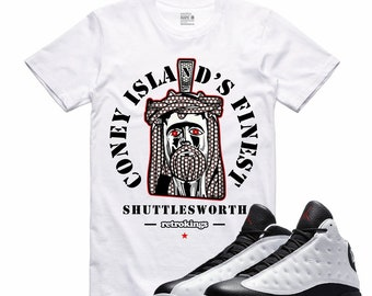 promo code 123f0 9e28a Air Jordan XIII He Got Game 13 T Shirt White True Red Black JESUS PIECE  Retro Sneakerhead Sneaker Tee