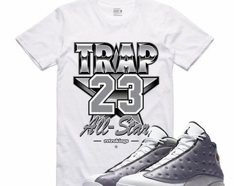 faee496f10d7 Air Jordan XIII 13 Atmosphere Grey Flight Nostalgia TRAP 23 Retro Sneaker T  Shirt Sneakerhead Tee
