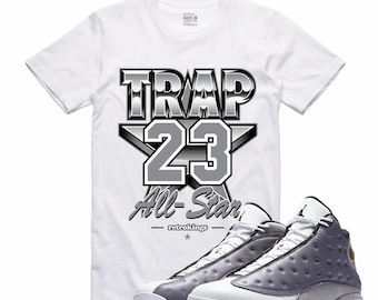 7d592aa4ec577 Air Jordan XIII 13 Atmosphere Grey Flight Nostalgia TRAP 23 Retro Sneaker T  Shirt Sneakerhead Tee