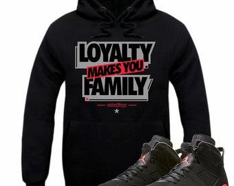 c850ddf9067cf9 Air Jordan 6 VI Infrared Sneaker Hoodie Sweatshirt Matching Retro LOYALTY  hooded sweatshirt