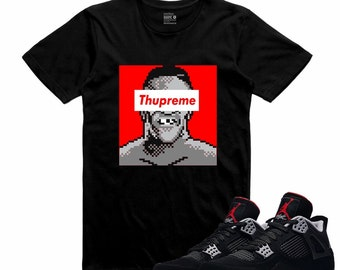 613eba3765b Air Jordan IV BRED 4 Black Red Cement T Shirt Retro THUPREME Sneakerhead  Tee. SneakerDOPE. 3.5 out of ...