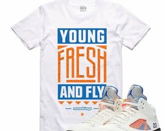 0d3a247771a9 Air Jordan 5 V International Flight Sneaker T Shirt Barcelona Sneakerhead  Tee