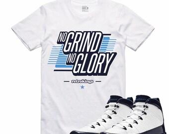 81828d3c9eada1 Air Jordan 9 IX Midnight Navy T Shirt Carolina Retro Sneaker Sneakerhead  Tee UNC