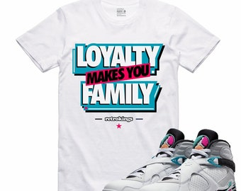 bd112d176bd7f9 Air Jordan 8 VIII Turbo Green Spurs South Beach Sneaker T Shirt Sneakerhead  Tee