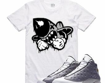 e058d91f504 Air Jordan XIII 13 Atmosphere Grey T Shirt Flight Nostalgia Retro BRUISER  DRIP Sneakerhead Sneaker Tee