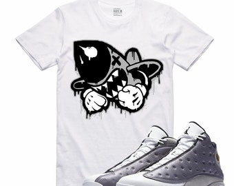 online store 05d87 3a420 Air Jordan XIII 13 Atmosphere Grey Flight Nostalgia BRUISER X Retro Sneaker  T Shirt Sneakerhead Tee