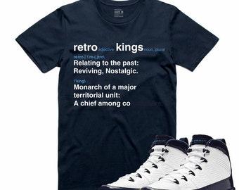 1ded7483d4fd Air Jordan 9 IX Midnight Navy T Shirt Carolina Retro Sneaker Sneakerhead  Tee UNC