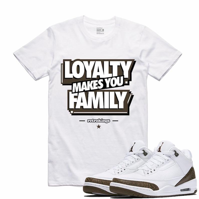 8bb074531b52 Air Jordan 3 III Mocha Sneaker T Shirt Retro Sneakerhead Tee