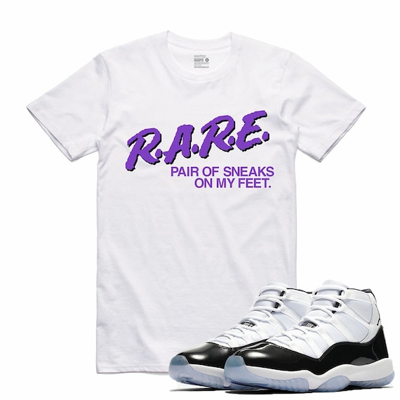 cfd5fcf2e9d7 Air Jordan 11 XI Concord Sneaker T Shirt Matching Retro