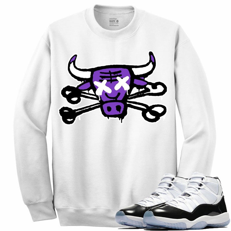798ed00292d951 Air Jordan 11 XI Concord Sneaker Crewneck Sweatshirt Matching